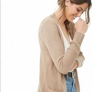 Forever 21 Longline Ribbed Knit Cardigan